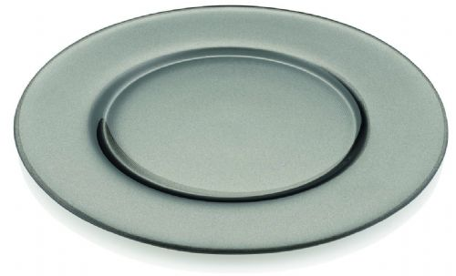 Deluxe Round Grey Glass Charger Plate - 32cm
